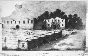 Alamo sketch by John A Bachman